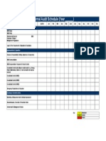 Template Internal Audit Schedule