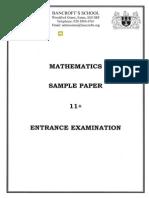 11 Mathematics Sample Paper June 2013-Bancroft School