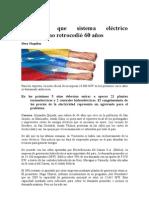 Advierten que sistema eléctrico venezolano retrocedió 60 años