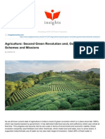 Insightsonindia.com-Agriculture Second Green Revolution and Government Schemes and Missions