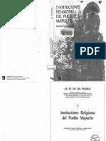 Martin Alonqueo. Instituciones Religiosadel Pueblo Mapuche