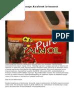 Palm Oil Growth Damages Rainforest Environment