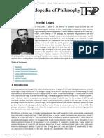 Carnap_ Modal Logic