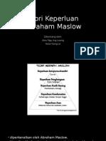 Teori Keperluan Abraham Maslow