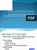 Fluids and Electrolytes Re. Elderly Clients
