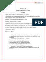 11 English Core Reading paper