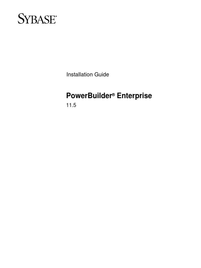 power builder 11 5 installation guide internet information rh pt scribd com PowerBuilder Man PowerBuilder Body