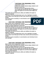 success criteria for drawing eyes