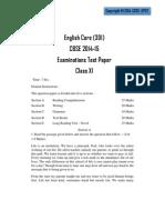 English CBSE 2014 Sample Paper - 1