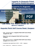 Pre-leased Property in Augusta Point, Sector 53, Golf Course Road, Gurgaon-9650129697