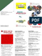 Folder Week Van de Sportclubs 2015