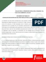 VÍNCULOS 2014. Documento de Trabajo II - Consolidación de Espacios Multisectoriales Para El Abordaje de La Seguridad