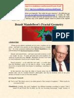 Benoit Mandelbrot Fractal Geometry