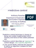 Predictive control - an introduction to main concepts