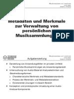 Metadaten und Merkmale zur Verwaltung von Persönlichen Musiksammlungen - Presentation - High-Res
