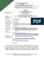 Governance Committee Agenda Packet 9-16-15