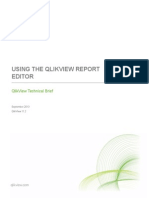 Technical Brief - Using the QlikView Report Editor