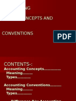 Accounting Concepts & Conventions