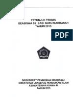 (606544098) Petunjuk Teknis Beasiswa s2 Guru Madrasah Tahun 2015