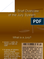 A Brief Overview Ofthejury System