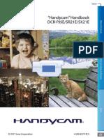 Handbook Handycam Sony English