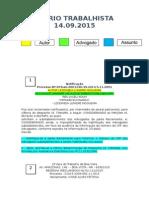 Diário Trabalhista 14.09.2015