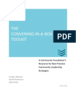 The Convening-in-a-Box Toolkit