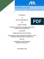 Bunning ABA Report