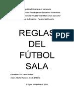 Reglas Del Fútbol Sala.