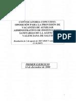 Auxiliar Administrativo Avs 2008