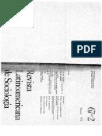 Revista latinoamericana de sociología