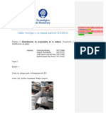 Determinación de propiedades de la materia. Preparación e identificación de gases.