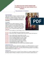 Octombrie 21 - Acatistul Sfinţilor Mărturisitori Visarion Şi Sofronie Şi Al Mucenicului Oprea