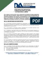 Reglamento de Futbol categoria Libre