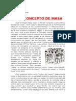 Concepto de masa