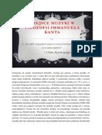 Miejsce Muzyki w Filozofii Immanuela Kanta (1)