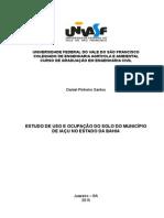 Uso e Ocupação do Solo - Iaçu (Bahia)
