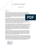 Letter Sent by Association of Research Libraries to Elsevier Chairman Youngsuk (September 2015)