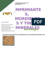 Imprimantes, Mordientes y Tintes de Origen Mineral