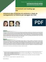 Influencia das condições do ambiente e idade de carregamento na fluencia por secagem