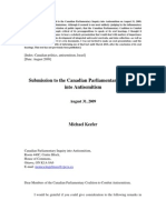 Submission to the Canadian Parliamentary Inquiry into Antisemitism