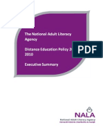 NALA Distance Education Policy 2007-2010 Executive Summary