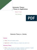 Automata Theory Applications