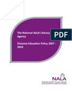NALA Distance Education Policy 2007-2010 Full Report