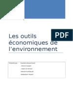 Les Outils Économiques de l'Environnement