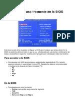 Comandos de Uso Frecuente en La BIOS