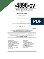 John Wiley & Sons v. Kirtsaeng NYIPLA amicus brief