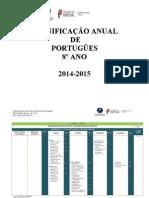 planificação 8º ano português