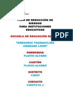 Plan de Riesgo Gregorio Tranquilino Andrade Loor