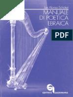 Alonso Schokel, Manuale Di Poetica Ebraica, Queriniana